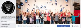 Facebook-Auftritt des Flüchtlingsprojekts